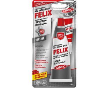 Герметики и клеи - Герметик - прокладка серый FELIX 100г