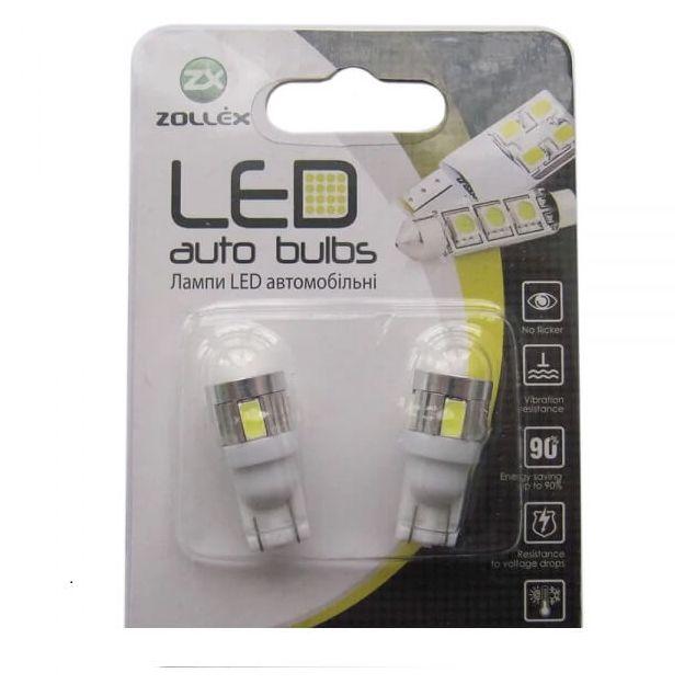 Zollex LED T10 SMD5730x6 12V White (2шт) T1177 - 1