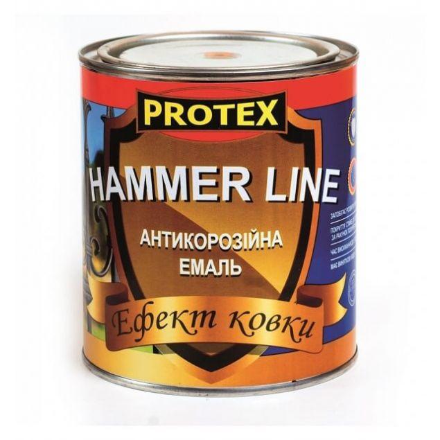 Эмаль с эффектом ковки Protex Hammer Line бронза (0,7) - 1