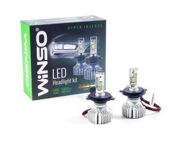 Нейтралізатор запаху домашніх - LED лампа Winso H4 12/24V 60W 6500K 8000Lm CSP Philips Lumileds ZES Chip -