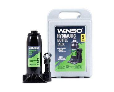 Домкраты автомобильные - Домкрат гидравлический бутылочный WINSO 170510 5т в кейсе 195-380мм