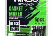 Герметик прокладок высокотемпературный WINSO силиконовый черный 310310 - 1