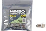 Автолампа WINSO 12V FLUX T8.5 BA9s 7LEDS white 10шт.уп. 127690 - 1