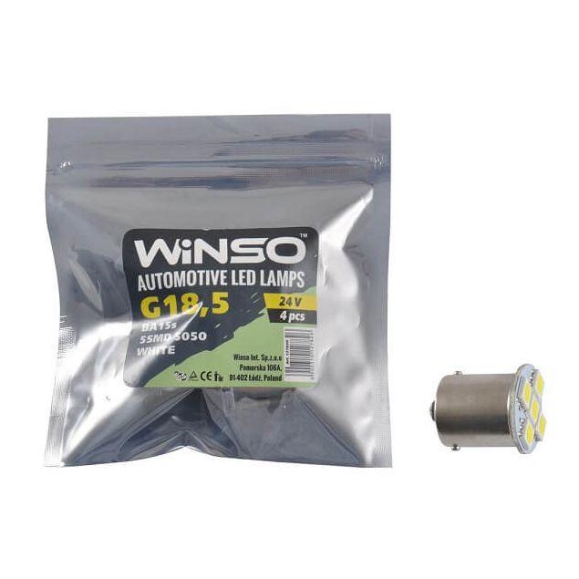 LED лампа Winso BA15s 24V SMD 5050 white 127820 - 1