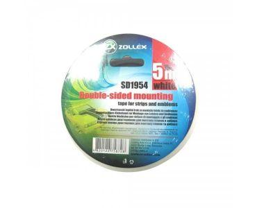 Ізолента, скотч - Zollex Скотч двосторонній білий 12мм * 5м -