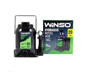 Домкраты автомобильные - Домкрат гидравлический бутылочный Winso 170230 20т 185-345мм
