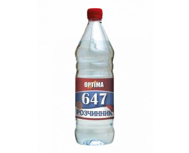 Растворитель для краски - Растворитель 647 без прекурсоров ОPТІМА 0,8л