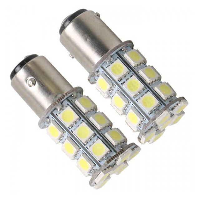Zollex LED S25/BAY15D SMD5050x20 12V White (2шт) S0901 - 1