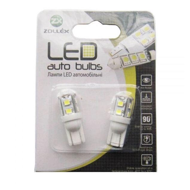 Zollex LED T10 SMD2835x9 12V White (2шт) T1160 - 1