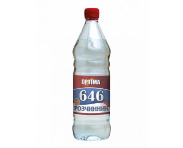 Растворитель для краски - Растворитель 646 без прекурсоров ОPТІМА 0,8л