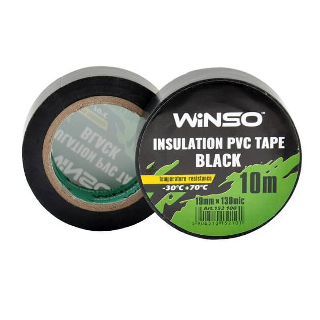 Изолента Winso ПВХ черная 10м / 19 мм - 1