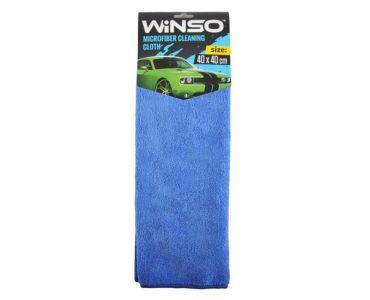Автоаксессуары - Салфетка из микрофибры WINSO 40х40см, синяя (150300)