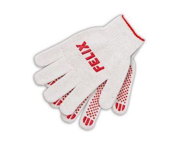 Перчатки - Перчатки хлопковые Felix с пвх-покрытием (белые) - Перчатки