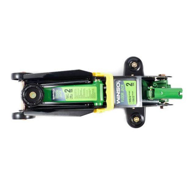 Домкрат гидравлический подкатной Winso 171860 2т 135-335мм в пластиковом кейсе - 4