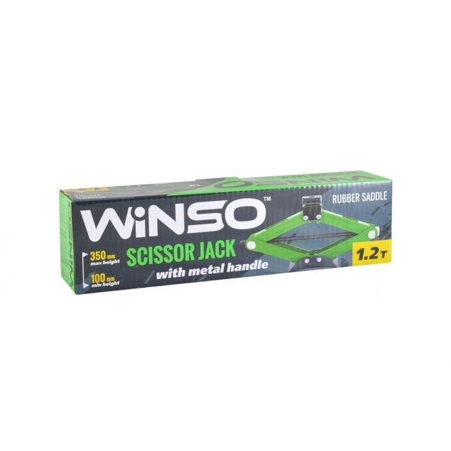 Домкрат ромбовый Winso 121200 с резиновой подушкой 1.2 т 100-350мм - 3