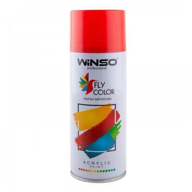 Вінсо Фарба акрилова,Spray 450ml.,темно-червоний,(RUBY RED/RAL3003) - 1