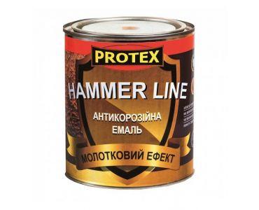 Спеціальні і декоративні фарби - Молоткова емаль PROTEX Hammer Line темно-коричнева -