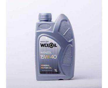 Автомасла - Масло моторное Wexoil Wenzol 15W-40 1л - Автомасла