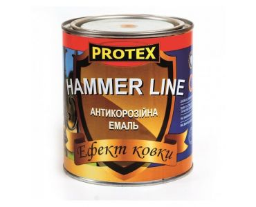 Спеціальні і декоративні фарби - Емаль з ефектом кування Protex Hammer Line коричнева (0,7) -