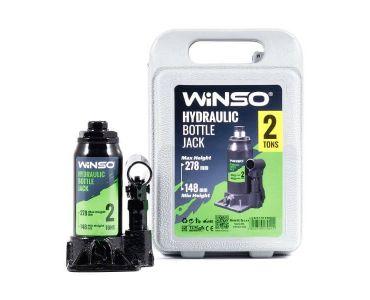 Домкраты автомобильные - Домкрат гидравлический бутылочный WINSO 170210 2т 148-278мм в кейсе