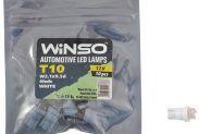 Автолампа WINSO 12V FLUX T10 W2.1x9.5d 4LEDS white 10шт.уп. 127660 - 1