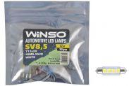 LED лампа Winso C5W 12V SMD5630 SV8.5 T11x39 127510 - 1