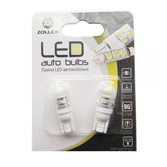 Zollex LED T10 1W HPx1 12V White (2шт) T1125 - 1