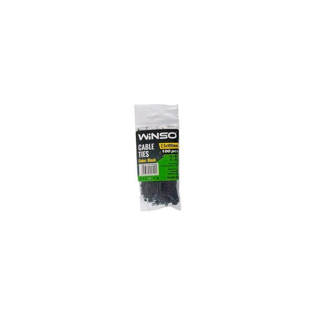 Хомуты пластиковые WINSO 225100 2,5x100 мм Черные - 1