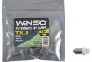 Автолампа WINSO 12V FLUX T8.5 BA9s 1LED white 10шт.уп. 127650 - 1