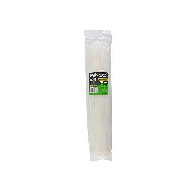 Хомуты пластиковые WINSO 148400 4,8x400 мм Белые - 1