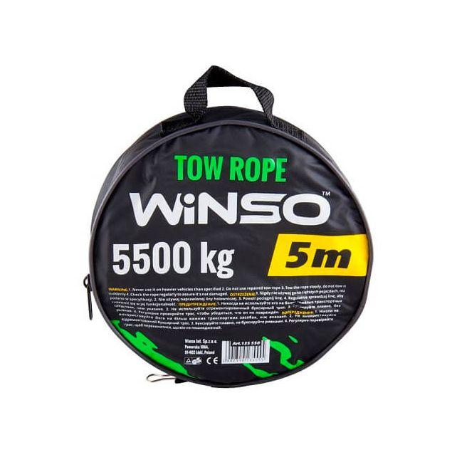 Трос буксировочный WINSO 5.5т 5м в чехле135550 - 1
