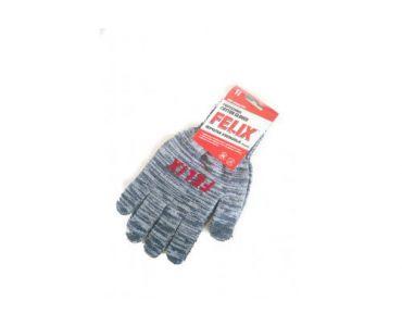 Перчатки - Перчатки хлопковые Felix с пвх-покрытием (серые) - Перчатки