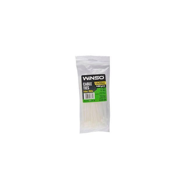 Хомуты пластиковые WINSO 136150 3,6x150 мм Белые - 1
