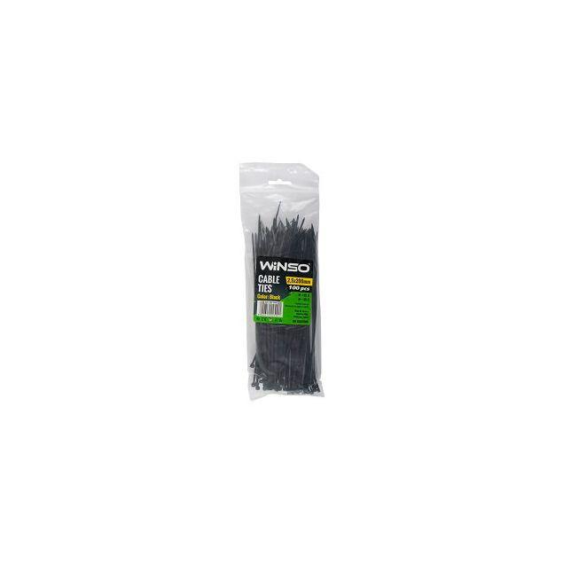 Хомуты пластиковые WINSO 225200 2,5x200 мм Черные - 1