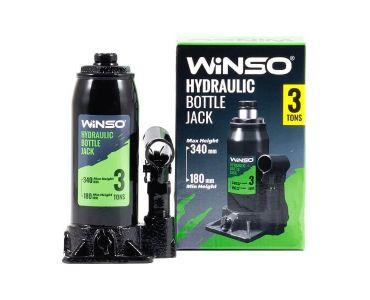 Домкраты автомобильные - Домкрат гидравлический бутылочный WINSO 170310 3т в кейсе 180-340мм