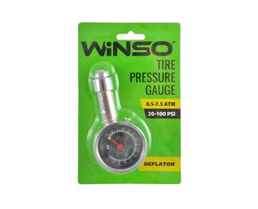 Манометри для шин - Автомобільний манометр для шин Winso металевий 7.5 атм (143200) -