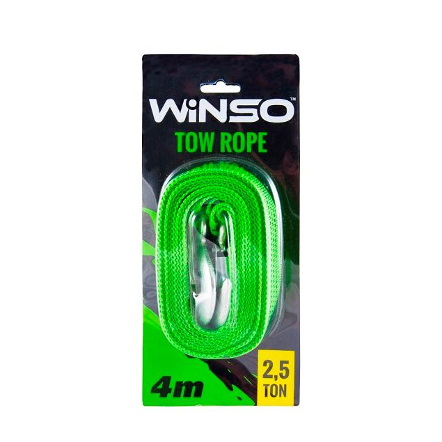 Трос буксировочный WINSO 2.5т 4м блистер 132540 - 1
