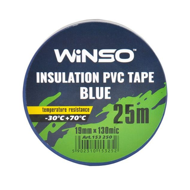 Изолента Winso ПВХ синяя 25 м 19 мм - 2