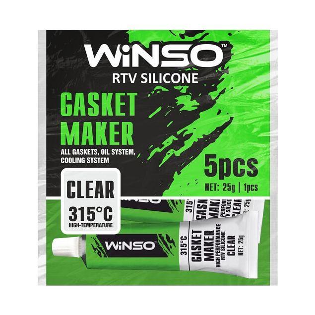 Герметик высокотемпературный WINSO силиконовый прозрачный 310410 - 1