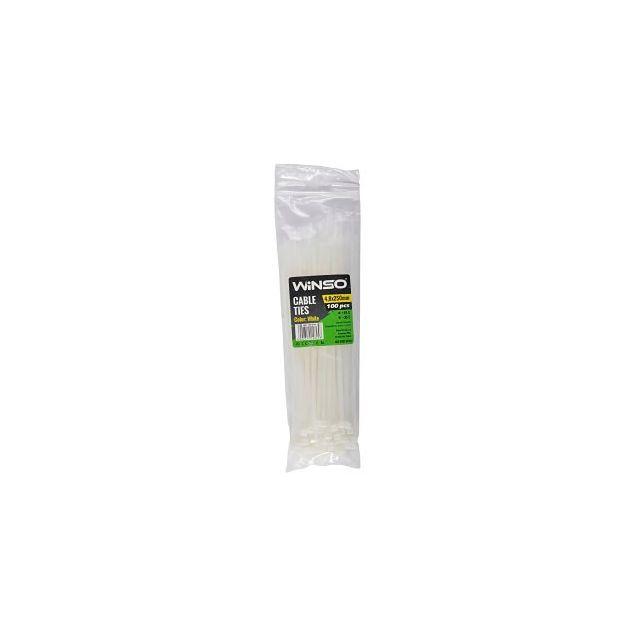 Хомуты пластиковые WINSO 148250 4,8x250 мм Белые - 1