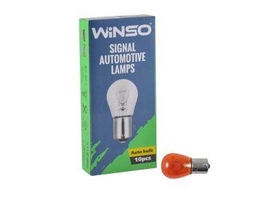 - Лампа розжарювання Winso PY21W 12V 21W BAU15s Amber 713110 -