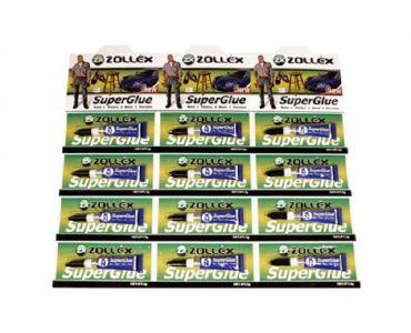 Герметики и клеи - Zollex Супер клей SuperGlue (планшет 12шт)
