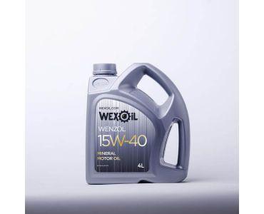 Автомасла - Масло моторное Wexoil Wenzol 15W-40 4л - Автомасла