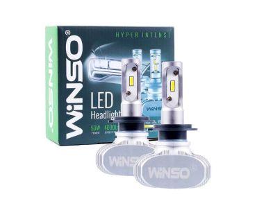 Нейтралізатор запаху домашніх - LED автолампи Winso H7 12/24V 6000К 4000Lm 50W CSP Cree Chip 19 х 19 х -
