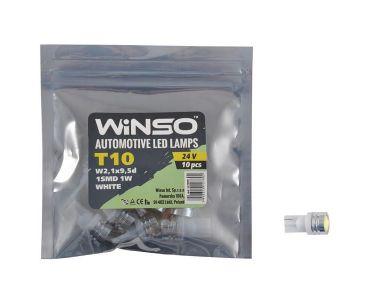 Нейтралізатор запаху домашніх - LED лампа Winso T10 24V SMD W2.1x9.5d 127800 -