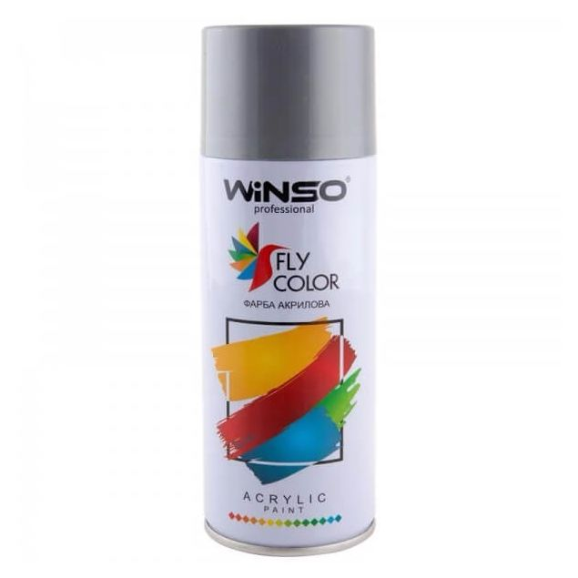 Краска Winso Spray серебристый металлик DIAMOND SILVER 880330 450мл - 1