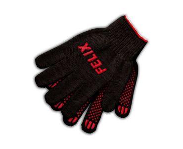 Перчатки - Перчатки хлопковые Felix с пвх-покрытием (чёрные) - Перчатки