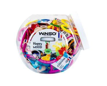 Ароматизатор в машину - Набор ароматизаторов микс Winso Happy Wood 500000