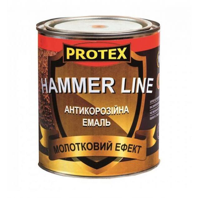 Эмаль молотковая PROTEX Hammer Line тёмно-коричневая - 1