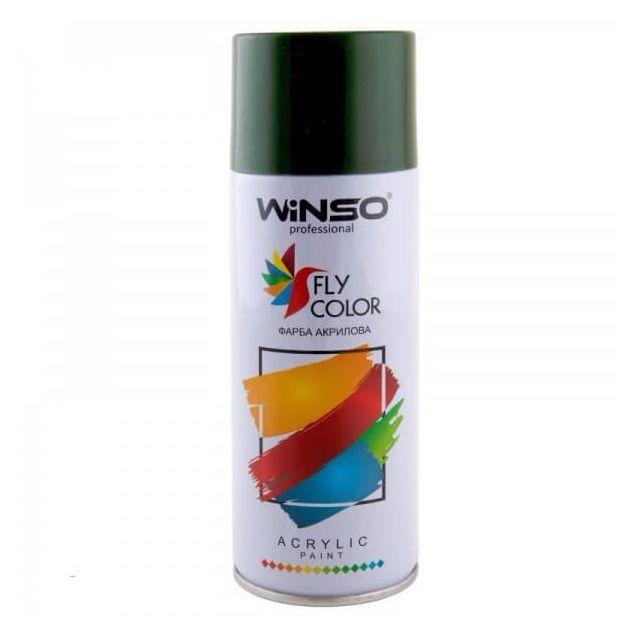 Вінсо Фарба акрилова,Spray 450ml.,темно-зелений,(MOSS GREEN/RAL6005) - 1
